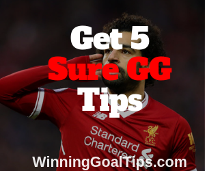 Sure GG (Both teams to score) matches to bet on and win 20,000 today