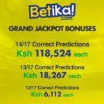 betika jackpot winners